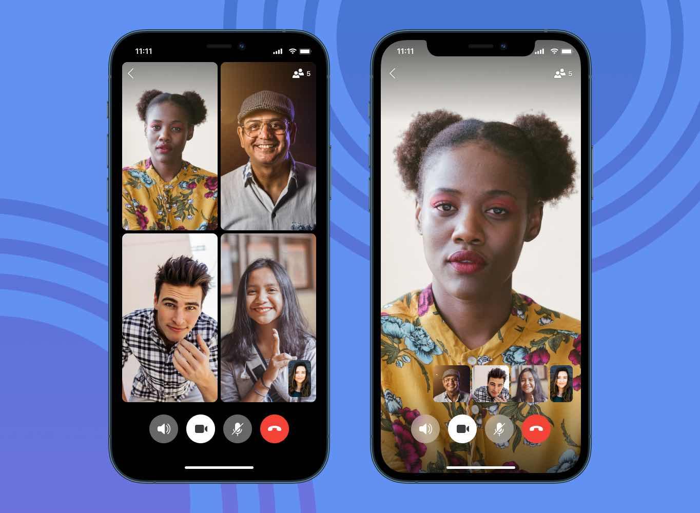 Captura de tela de uma video chamada pelo app. Foto: Signal.