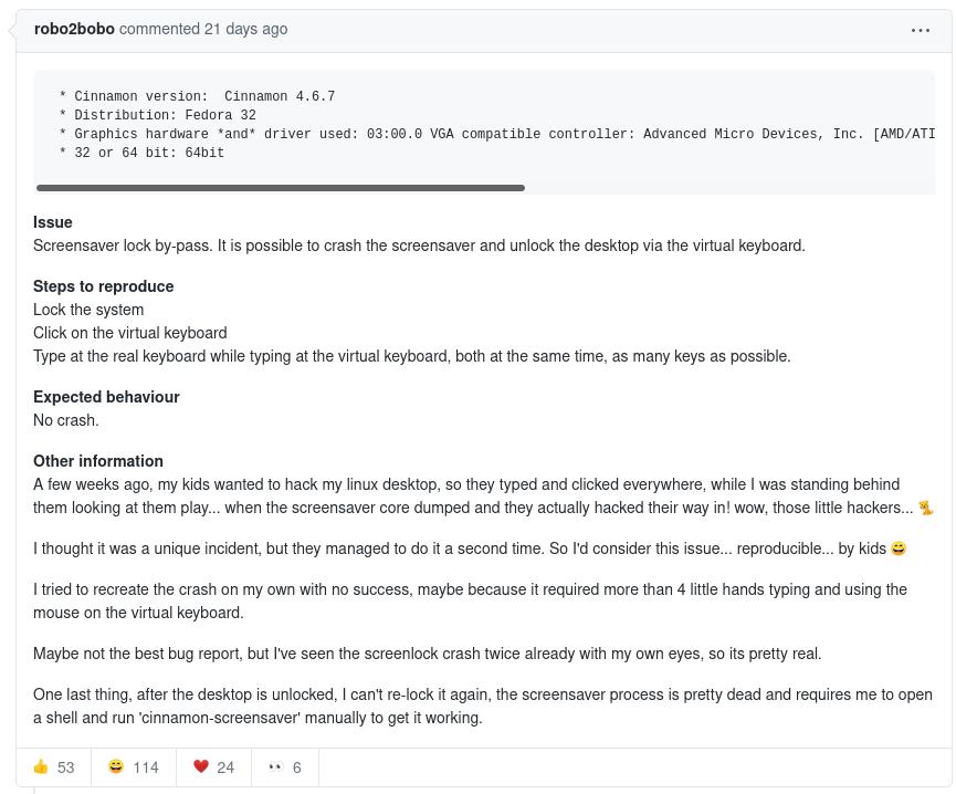 Relatório do pai das crianças no GitHub. Foto: GitHub.