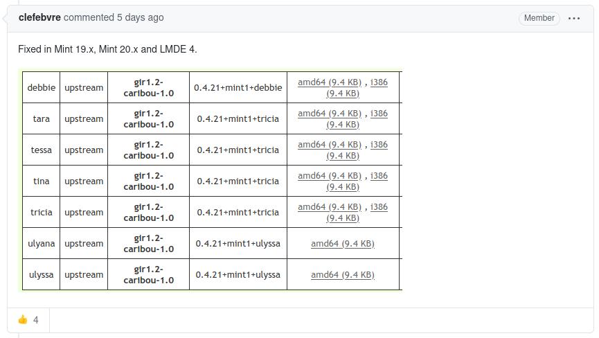 Patches atualizados foram publicados nos comentários do relatório. Foto: GitHub.