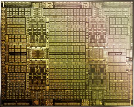 Modelo de um processador CMP. Foto: Nvidia.