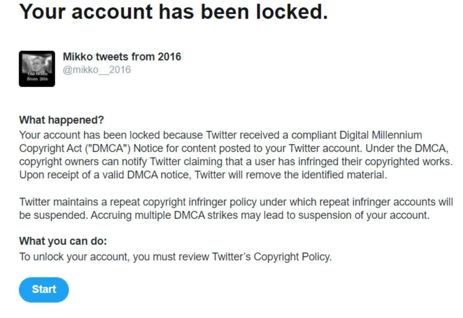 Mensagem enviada à Mikko por supostamente oferecer software pirata, infringindo leis de direitos autorais. Foto: TorrentFreak.