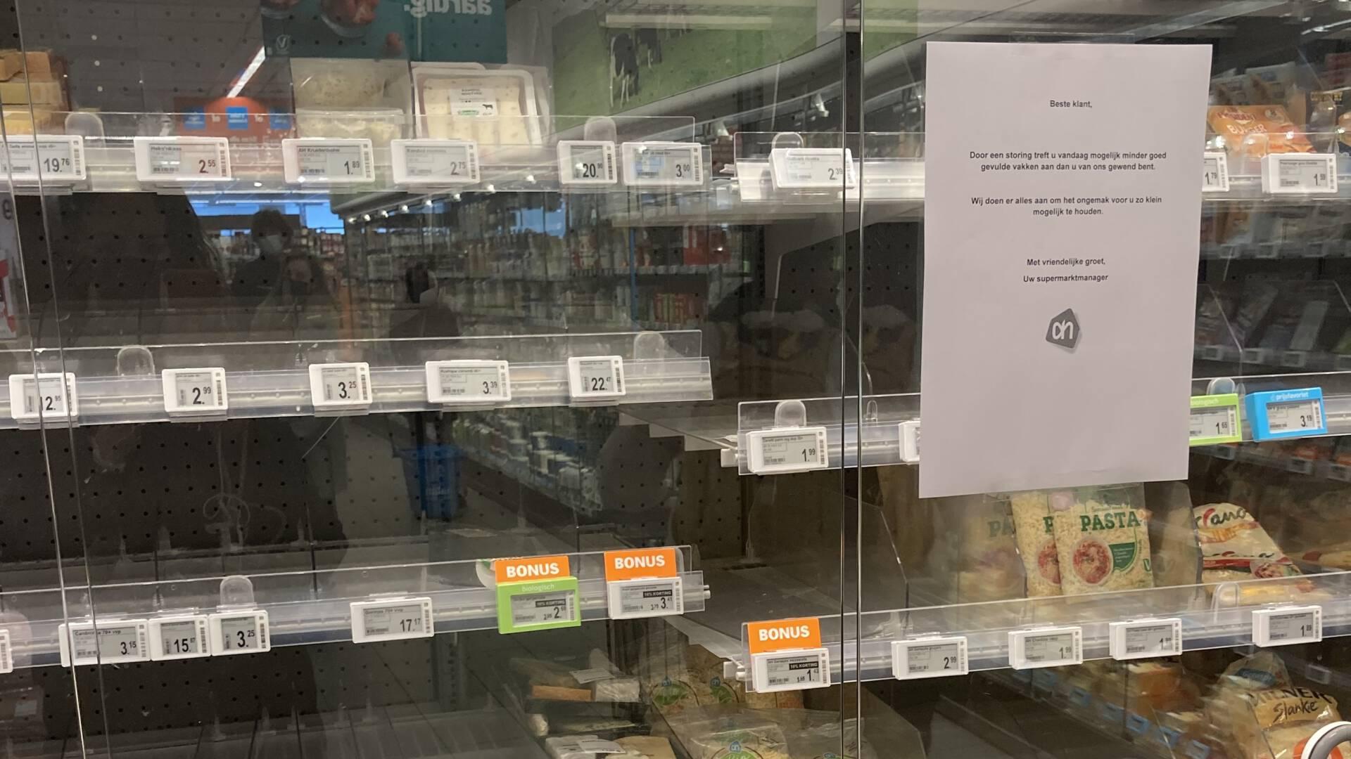 Prateleiras varias em uma unidade do supermercado Albert Heijn. Foto: NOS.