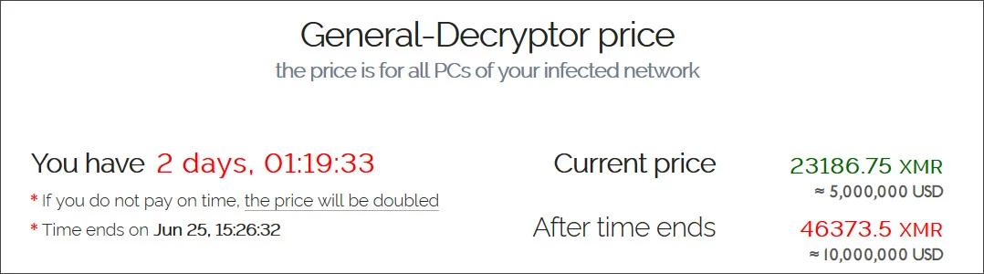Mensagem com informações e data para pagamento do resgate, deixada pelos cibercriminosos. Foto: BleepingComputer.