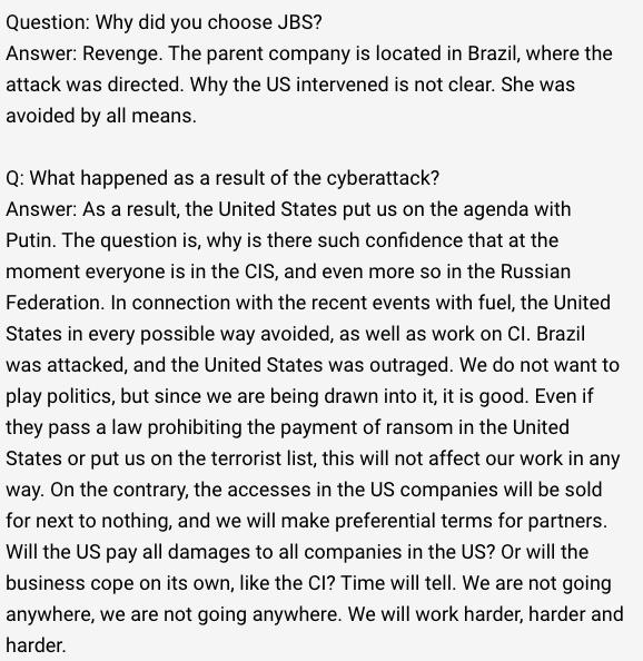 Conversa encontrada pelos pesquisadores da SecurityScorecard. Foto: SecurityScorecard.