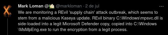 Analista de malware já estava no rastro do REvil quando identificou a relação com o ataque à Kaseya. Foto: The Hack.
