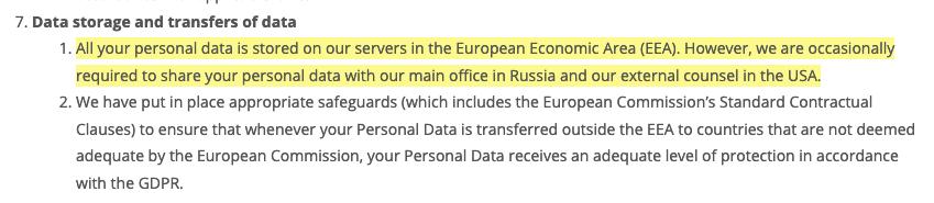 """Segundo o Muse Group, dados são enviados para servidores nos Estados Unidos e Rússia, onde ficam os desenvolvedores e o """"departamento jurídico"""" da empresa. Foto: The Hack."""