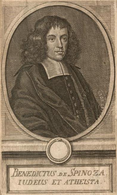 Em Latin, Benedictus de Spinoza, filósofo holandês de família portuguesa, autor do livro Ética, que posteriormente passou a ser reconhecido como Ética de Spinoza. Foto: Biblioteca Pública de Nova Iorque via Wikimedia.
