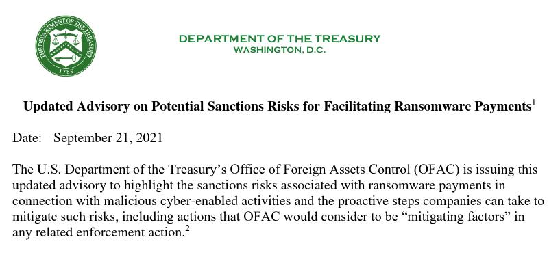 Documento pede a colaboração do setor privado em, principalmente, não negociar com cibercriminosos.