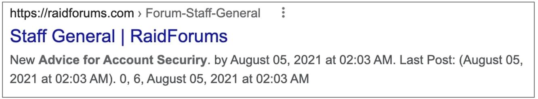 """Snippet da seção """"Staff General"""" encontrado no Google. Foto: BleepingComputer."""
